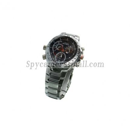 Spy Watch Cameras recoder - HD Hidden Waterproof Stainless Cover Sports Spy Watch (4GB)