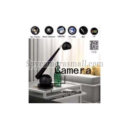 Spy Desk Lamp Camera DVR - European-style Desk Lamp Camera Hidden Pinhole Spy Camera DVR 16GB And Remote Control (Motion Activated)