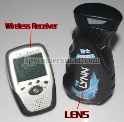 Wireless Spy Camera 2.4G Men's Shower Gel Spy Camera HD Bathroom Spy Camera With Portable Receiver