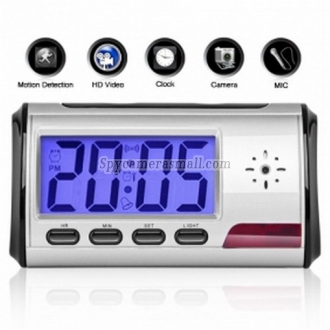 spy cameras - Digital Alarm Clock with Hidden Camera + Motion Sensor