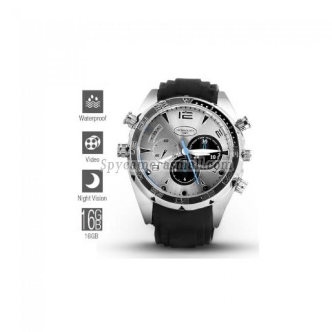 Spy Watch Cameras recoder - 1080P HD IR Night Vision Waterproof Spy Watch (16GB)