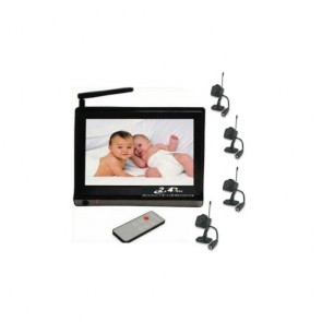 "Nanny Camera - 7 Inch Baby Monitor + 2.4GHz, 4 Channel, 1/3"" CMOS"