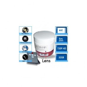 Spy Hair Conditioner Hidden Waterproof 720P HD Bathroom Spy Camera DVR 16GB (Motion Activated)